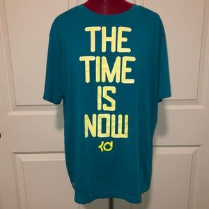 Nike Kevin Durant Men Large Shirt The Time Is Now